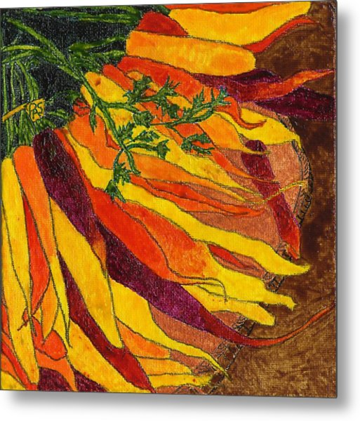 24 Carrots Gold Metal Print