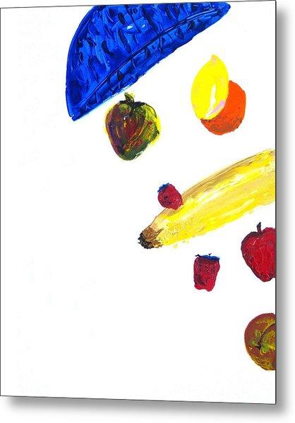 248 Spilled Life With Fruit Metal Print by Aaron Aadamson