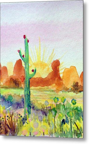 Southwestern Landscape Metal Print by Patricia Lazaro