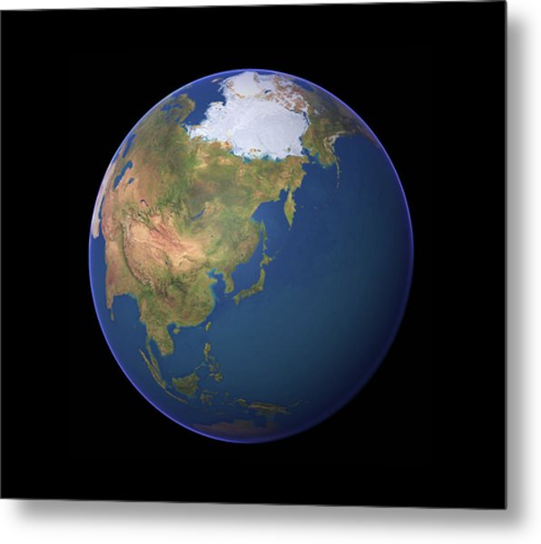 Earth Metal Print by Planetary Visions Ltd/science Photo Library