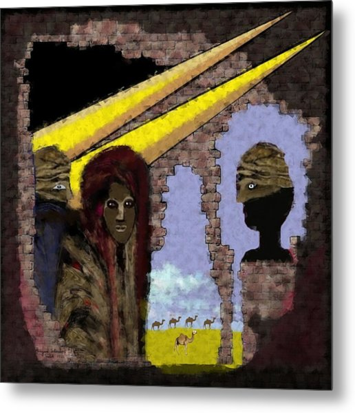 285 - Weapons   Metal Print by Irmgard Schoendorf Welch