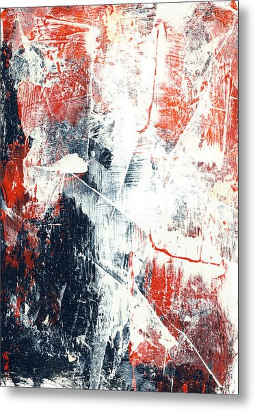 Moving On - Contemporary Abstract Painting Metal Print