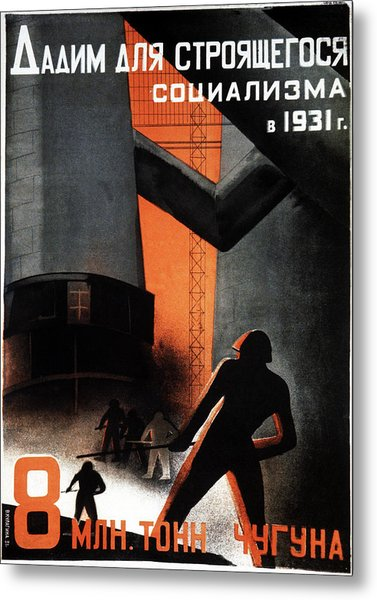1930s Soviet Propaganda Poster Metal Print by Cci Archives