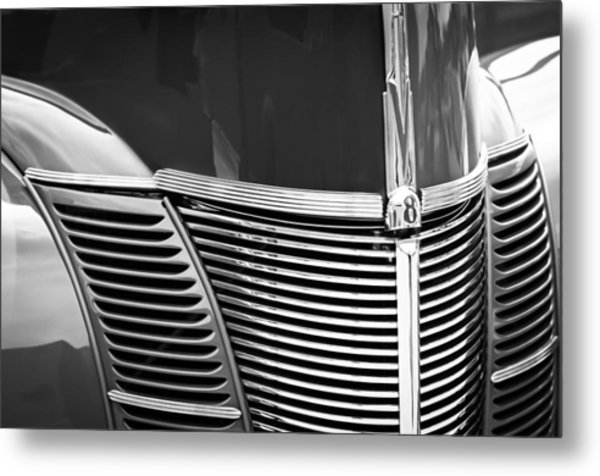 1940 Ford Deluxe Coupe Grille Metal Print