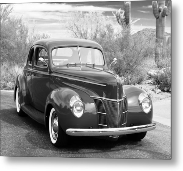 1940 Ford Deluxe Coupe Metal Print