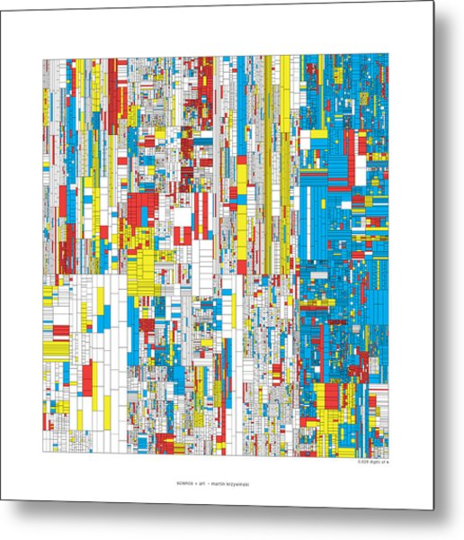 3628 Digits Of Pi Metal Print by Martin Krzywinski