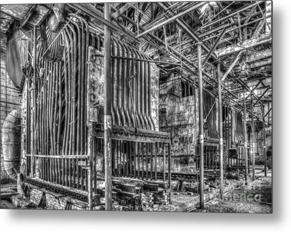 Abandoned Steam Plant Metal Print