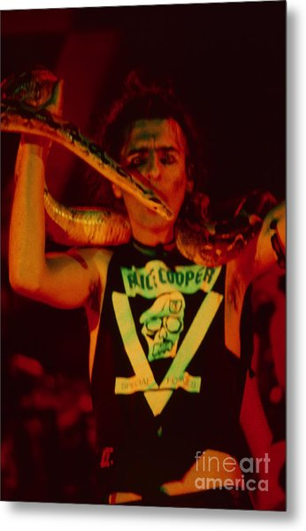 Alice Cooper At The Concord Pavillion Metal Print