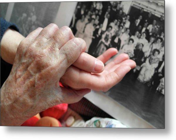 Alzheimer's Patient Metal Print by Tony Craddock