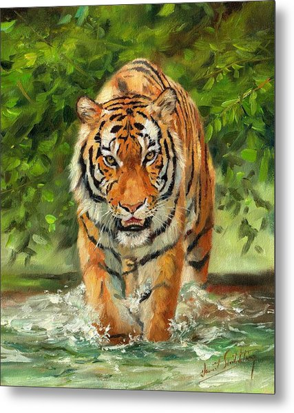 Amur Tiger Painting Metal Print