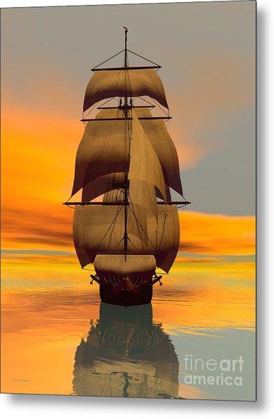 At Full Sail Metal Print by Sandra Bauser Digital Art