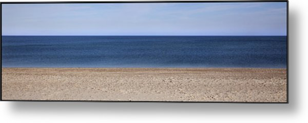 Color Bars Beach Scene Metal Print