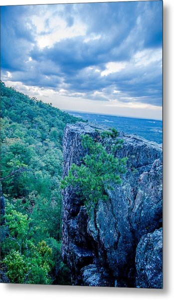 Beautiful Aerial Landscape Views From Crowders Mountain Near Gas Metal Print
