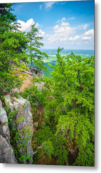 Metal Print featuring the photograph Beautiful Aerial Landscape Views From Crowders Mountain North Ca by Alex Grichenko