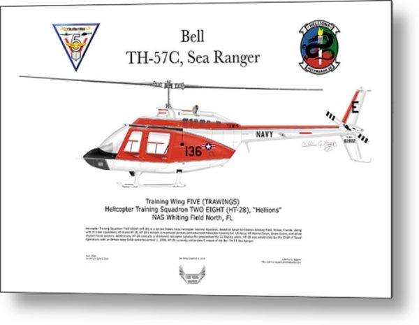 Bell Th-57c Sea Ranger Metal Print