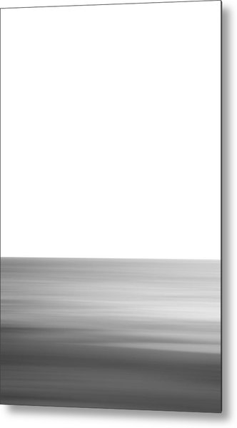 Black And White Abstract Seascape No. 02 Metal Print