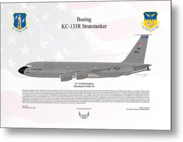 Boeing Kc-135r Stratotanker Metal Print by Arthur Eggers