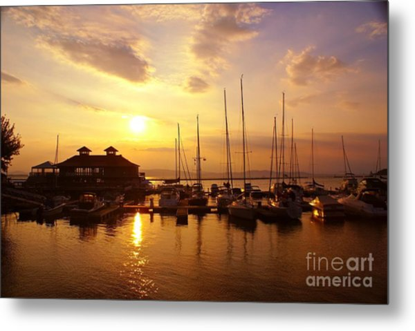 Burlington Boat House.  Metal Print