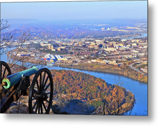 Chattanooga In Autumn Metal Print