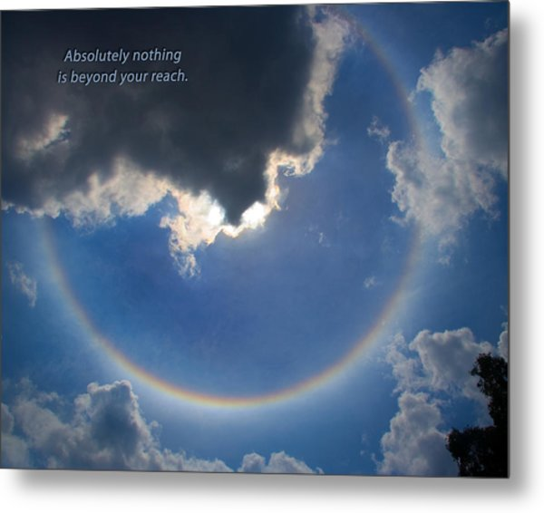 Metal Print featuring the photograph Circular Rainbow by David Coblitz