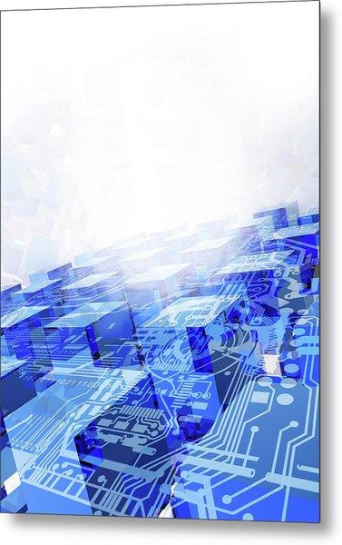 Cloud Computing, Conceptual Artwork Metal Print by Victor Habbick Visions