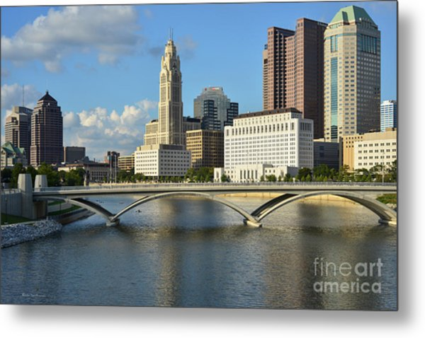 Columbus Ohio Skyline Photo Metal Print