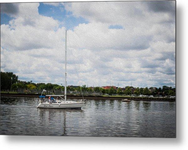 Cruising The Saginaw River Metal Print by Tom Causley