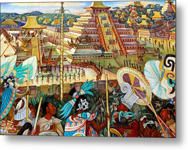 Diego Rivera Mural Mexico City Metal Print
