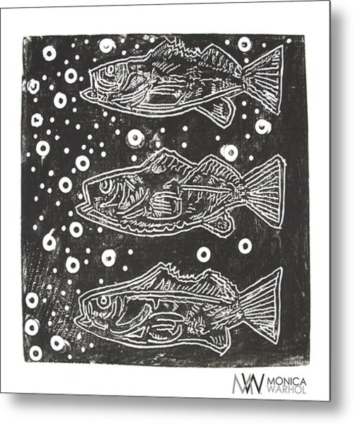 3 Fish Metal Print by Monica Warhol