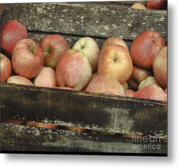French Market Apples Metal Print
