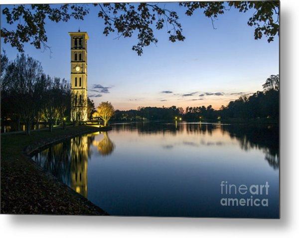 Furman University Bell Tower At Sunset  Greenville Sc Metal Print