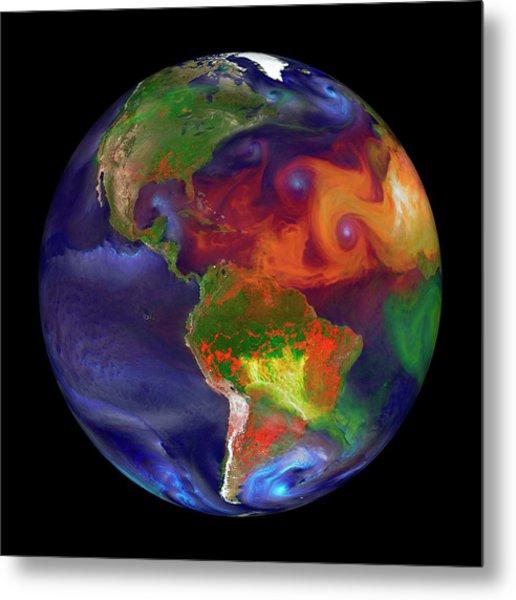 Global Fires Metal Print by William Putman/nasa Goddard Space Flight Center