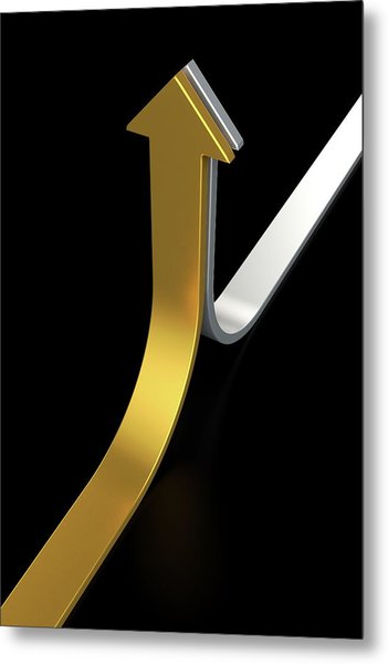 Golden And Silver Arrows Metal Print by Bjorn Holland