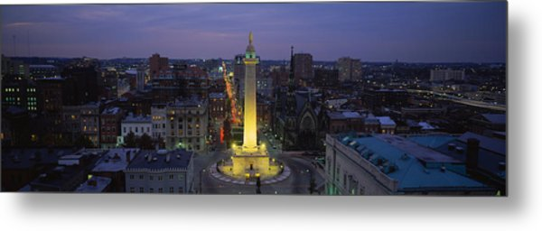 High Angle View Of A Monument Metal Print