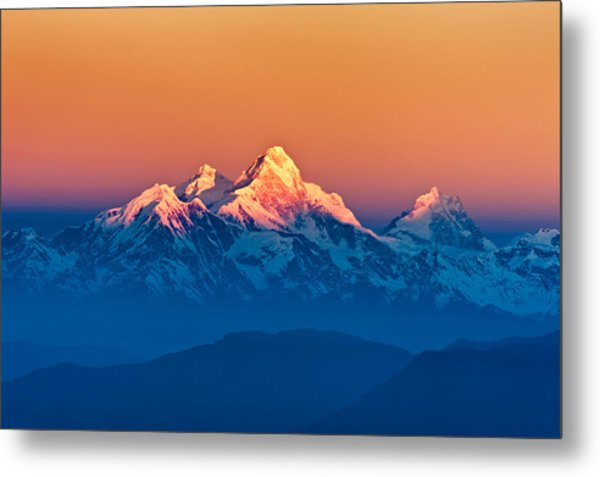 Himalayan Mountains View From Mt. Shivapuri Metal Print