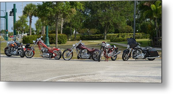 Hogs And Choppers Metal Print