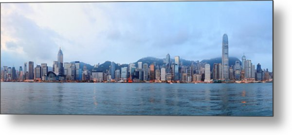 Hong Kong Morning Metal Print
