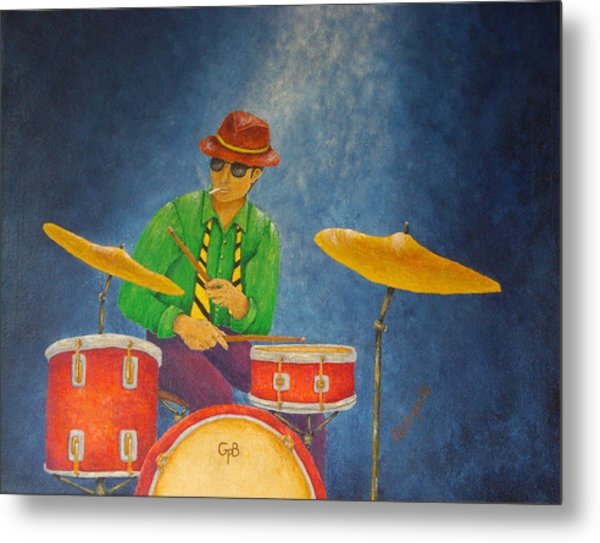 Jazz Drummer Metal Print