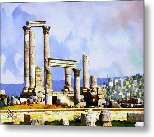 Jordan/amman/citadel Metal Print by Fayez Alshrouf