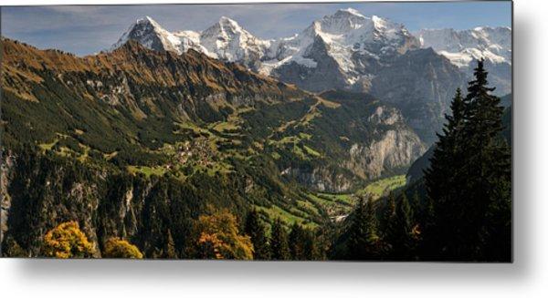 Lauterbrunnen Valley With Mt Eiger Metal Print
