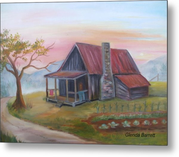 Life In The Country Metal Print by Glenda Barrett