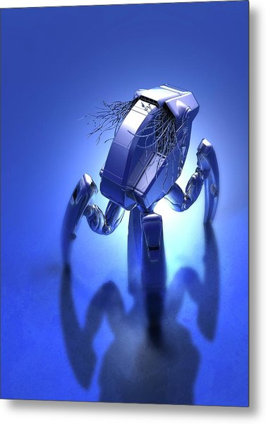 Microrobot Metal Print by Victor Habbick Visions/science Photo Library