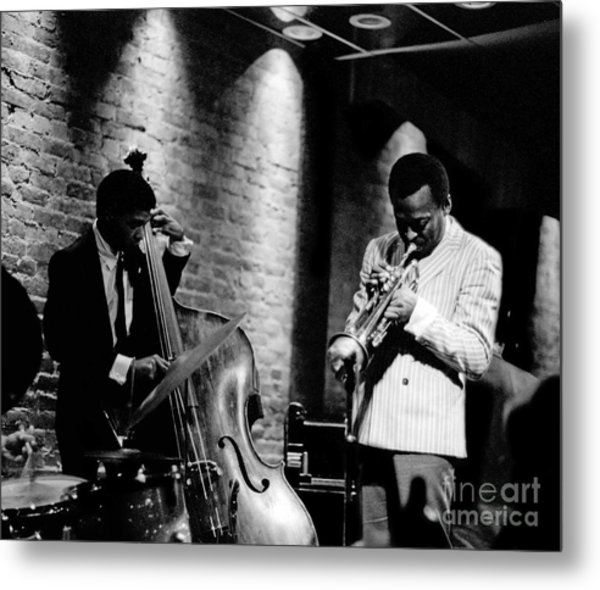 Miles Davis And Buster Williams At The Penthouse Metal Print
