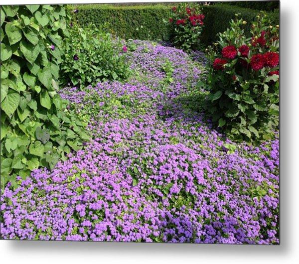 Monet's Garden In France Metal Print