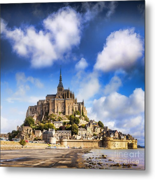 Mont St Michel Normandy France Metal Print