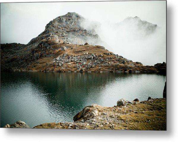 Metal Print featuring the photograph Mountain Lake Gosaikunda Himalayas by Raimond Klavins