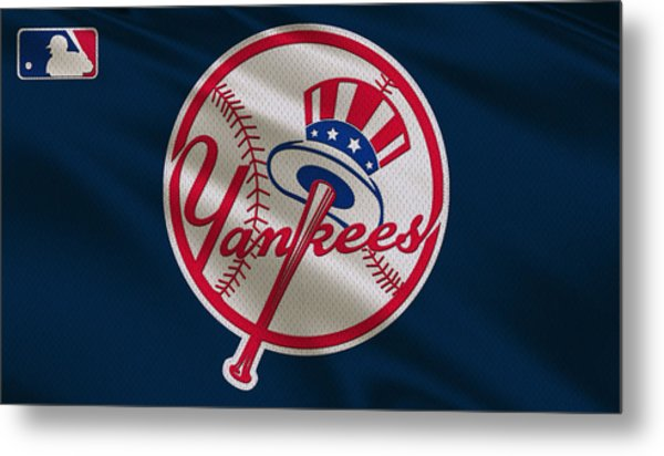 New York Yankees Uniform Metal Print