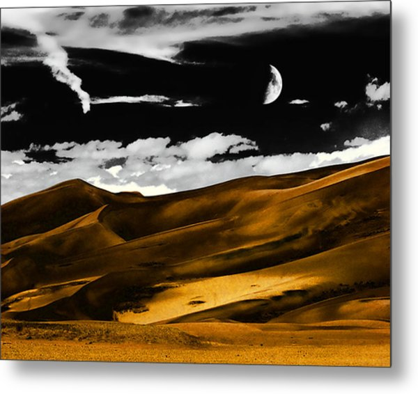 Night At The Great Sand Dunes Metal Print