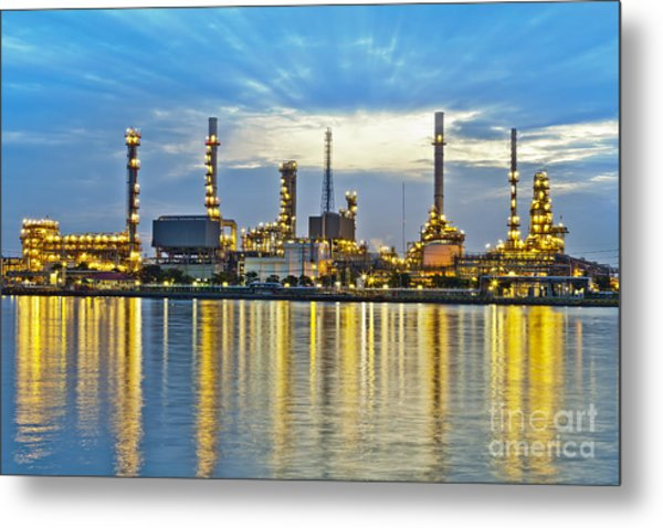 Oil Refinery Metal Print