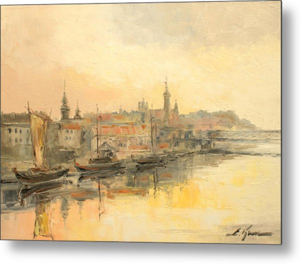 Old Warsaw - Wisla River Metal Print